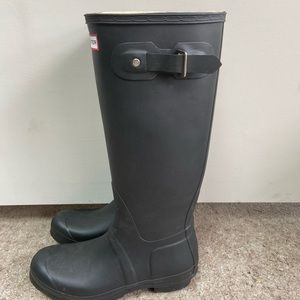 Hunter Original Tall Rain Boots Black - Sz 10